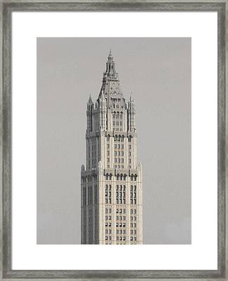 Woolworth  Black And White Two Framed Print by Christopher Kirby