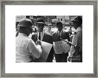 Woolworths Protest, 1963 Framed Print