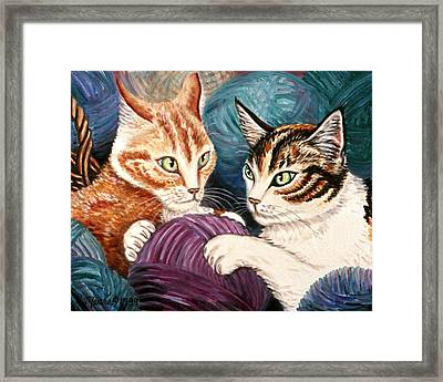 Wooly Rollick Framed Print by Linda Mears