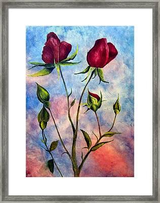 Woop Woop Rose Framed Print by JoLyn Holladay