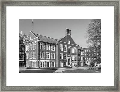 Worcester Polytechnic Institute Higgins Hall Framed Print by University Icons