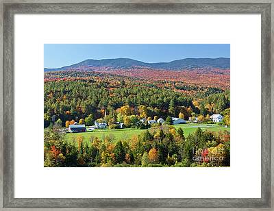 Worcester Vermont Autumn Framed Print by Alan L Graham