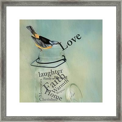 Framed Print featuring the photograph Love by Robin-Lee Vieira