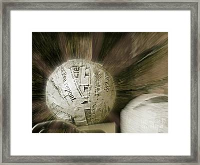 Framed Print featuring the photograph Word Shredder by Kristine Nora