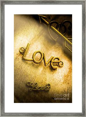 Words And Letters Of Love Framed Print