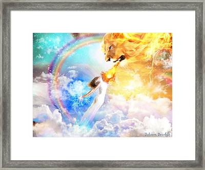 Words Like Fire Framed Print by Dolores Develde