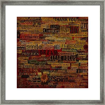Words Matter Framed Print