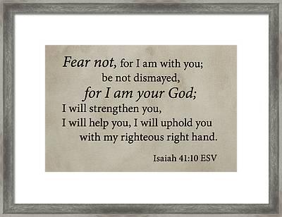 Words Of Life Scripture Verses Bible Art Framed Print by Reid Callaway