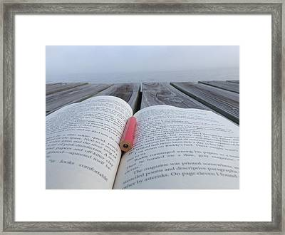 Words On The Dock Framed Print