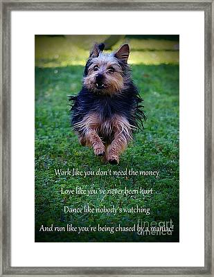 Words To Live By Framed Print by Clare Bevan