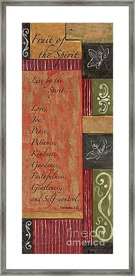 Words To Live By, Fruit Of The Spirit Framed Print