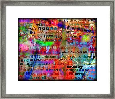 Words Framed Print by Treesha Duncan