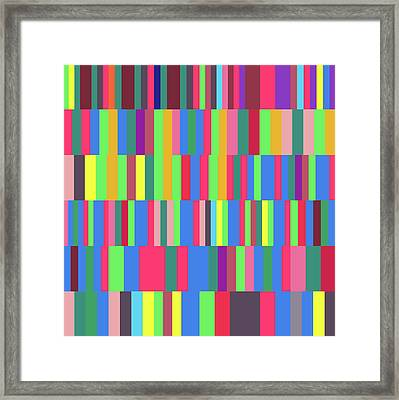 Words Used To Describe A Quadrillion Numbers Framed Print by Coded Images