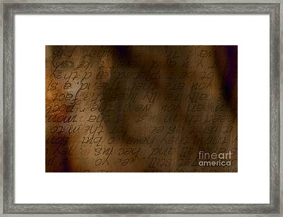 Words Winding Framed Print