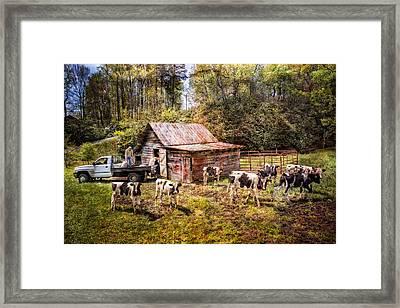 Work At The Farm Framed Print