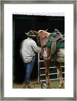 Work Day Ends Framed Print by Kim Henderson