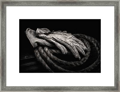 Work Gloves Still Life Framed Print by Tom Mc Nemar