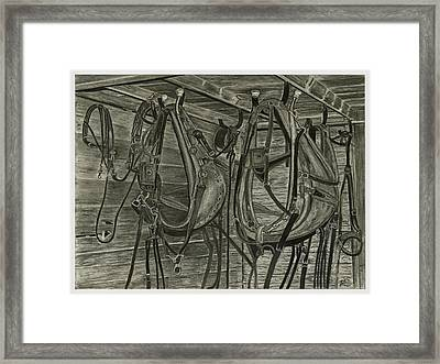Work Harness Framed Print
