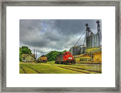 Work Horse Trains 7 Madison Georgia Locomotive Art Framed Print by Reid Callaway