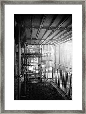 Work In Progress Under The Ruins Framed Print