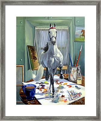 Work In Progress V Framed Print by Jeanne Newton Schoborg