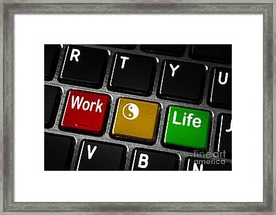 Work Life Balance Framed Print