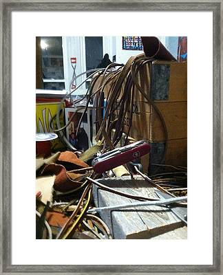 Work The Leather Ll Framed Print by Ronald Carlino Jr