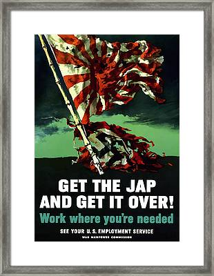Work Where You're Needed -- Ww2 Framed Print by War Is Hell Store