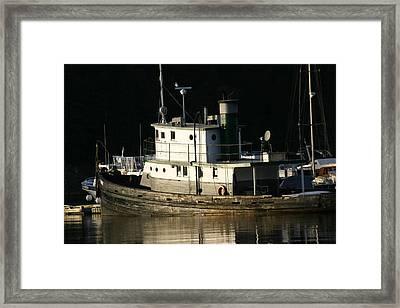 Workboat Framed Print by Doug Johnson
