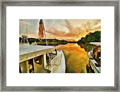 Workboats On San Damingo Creek Framed Print