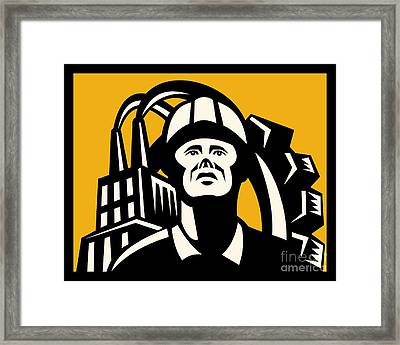 Worker Factory Building Framed Print by Aloysius Patrimonio
