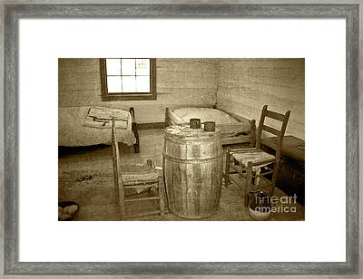 Framed Print featuring the photograph Worker Quarters by Pete Hellmann