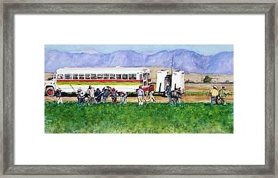 Workers Framed Print by Debra Jones