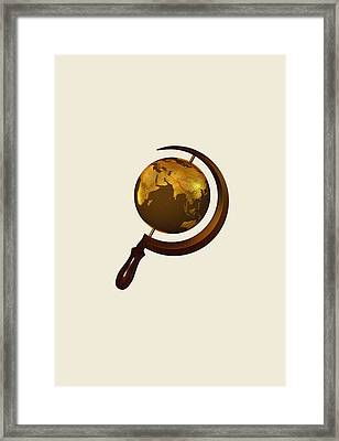 Workers Of The Globe Framed Print by Nicholas Ely