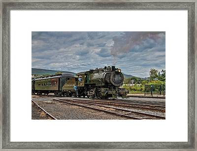 Workhorse At Steamtown Framed Print by Kristia Adams