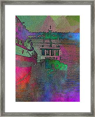 Workhorse In The Mist Framed Print