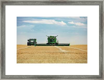 Workiblng Side-by-side Framed Print by Todd Klassy
