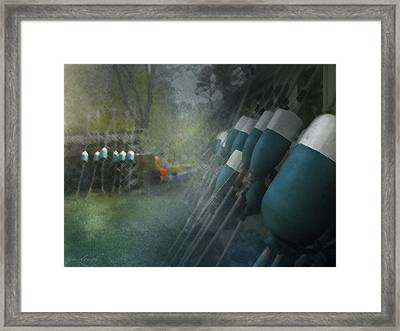 Working Bouy's Framed Print by Mary Clough