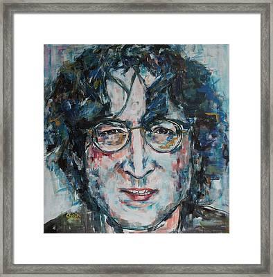 Working Class Hero Lennon Framed Print
