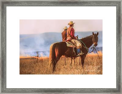 Working Cowboys Framed Print