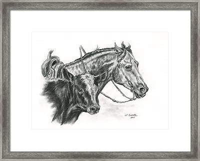 Working Cowhorse Framed Print by Jana Goode