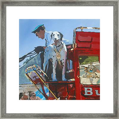 Working Dog Framed Print by Robert Bissett