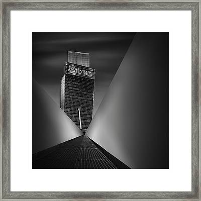 Working Dynamics I ~ Kpn Telecom Tower Framed Print by Mabry Campbell