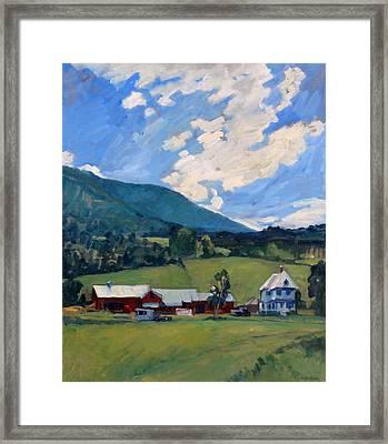 Working Farm Berkshires Framed Print by Thor Wickstrom