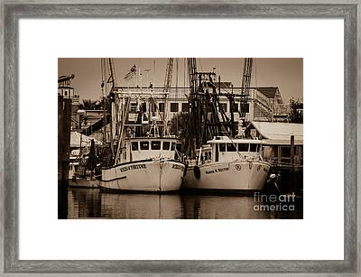 Working From The Creek Framed Print