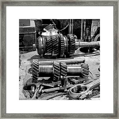 Working Gears Framed Print