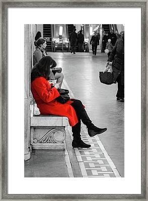 Working Girl Framed Print