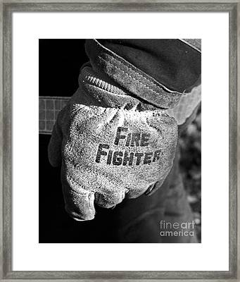 Working Gloves Framed Print