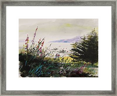 Working In The Cove Framed Print by John Williams