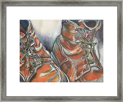 Working Man's Boots Framed Print
